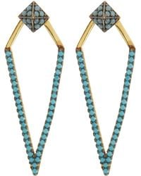 Argento Vivo - Crystal Embellished Kite Drop Jacket Earrings - Lyst