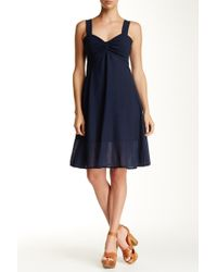 Luna Luz | Twist Bust Ruffle Hem Dress | Lyst