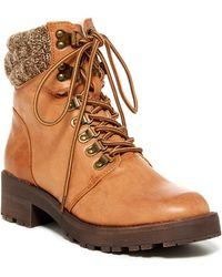 MIA - Maylynn Faux Shearling Lined Hiking Boot - Lyst