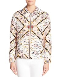 Opening Ceremony - Printed Reversible Knit Sorority Jacket - Lyst