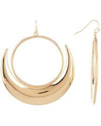 Jessica Simpson - Crescent Hoop Earrings - Lyst