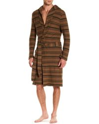 UGG - M Miles Stripe Robe - Lyst