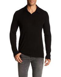 Velvet By Graham & Spencer - Collared Long Sleeve Knit Shirt - Lyst