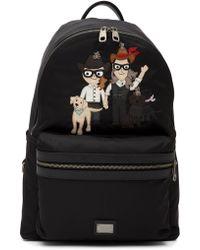 Dolce & Gabbana - Applique Nylon Backpack - Lyst