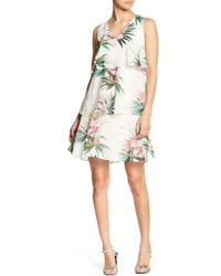 Donna Ricco - Clipped Dot Chiffon Dress - Lyst