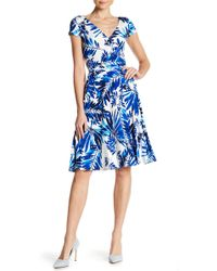 Maggy London - Palm Spray Wrap Dress - Lyst