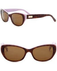Kate Spade - Keara 51mm Rectangle Cat Eye Sunglasses - Lyst