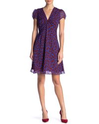 Diane von Furstenberg - Adrienne Silk Patterned Dress - Lyst