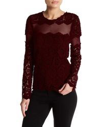 0015af80aeb61 Romeo and Juliet Couture - Woven Lace Long Sleeve Blouse - Lyst