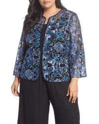 5a58a8fb7cd Alex Evenings - Floral Embroidered Twinset (plus Size) - Lyst