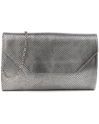 Halogen - (r) Angled Leather Day Clutch - Lyst