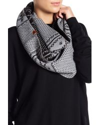Timberland - Fair Isle Reversible Infinity Scarf - Lyst