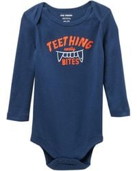 Joe Fresh - Long Sleeve Graphic Print Bodysuit (baby Boys) - Lyst