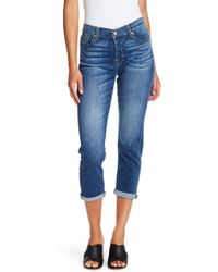 7 For All Mankind - Josefina Squiggle Skinny Boyfriend Jeans - Lyst