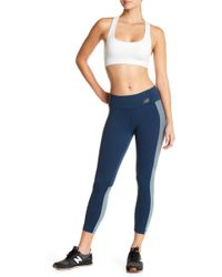 New Balance - Cropped Tights With Mesh Paneling - Lyst