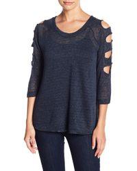 Sweet Romeo - Cutout Sleeve Sweater - Lyst