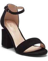 Elegant Footwear - Selahh Block Heel Sandal - Lyst