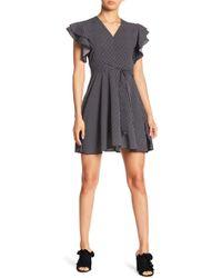 Haute Rogue - Polka Dot Print Ruffle Sleeve Dress - Lyst