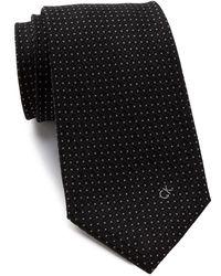Calvin Klein - Textured Silk Logo Tie - Lyst