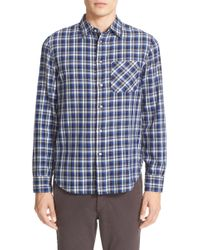 Rag & Bone - Plaid Beach Trim Fit Double Face Sport Shirt - Lyst