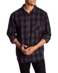 Velvet By Graham & Spencer - Long Sleeve Plaid Print Woven Shirt - Lyst