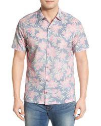 Tori Richard - 'orchidia' Trim Fit Short Sleeve Sport Shirt - Lyst