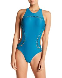 Mikoh Swimwear - Mahina Side Cutout High Neck One-piece Swimsuit - Lyst