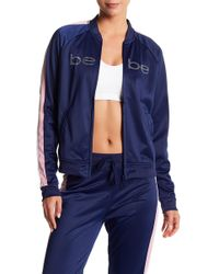 Bebe - Tricot Bomer Jacket - Lyst