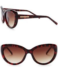 Vince Camuto - Cat Eye 55mm Acetate Frame Sunglasses - Lyst