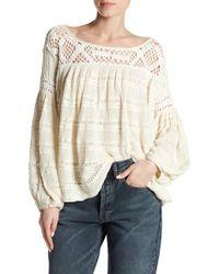 Urban Outfitters - Someday Crochet Yoke Jumper - Lyst