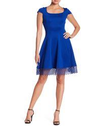 Donna Ricco - Dotted Crochet Hem Dress - Lyst