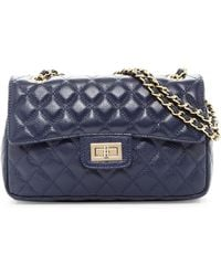 Zenith - Double Flap Quilted Leather Shoulder Bag - Lyst