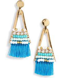 Rebecca Minkoff - Geo Tassel Chandelier Earrings - Lyst