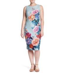 Derek Heart - Floral Patterned Midi Dress (plus Size) - Lyst