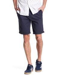 Indigo Star - Jiban Stretch Twill Walk Shorts - Lyst