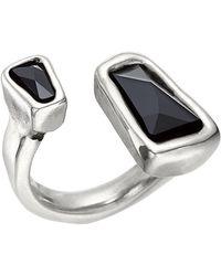Uno De 50 - Bezel Set Swarovski Crystal Accented Open Ladymatic Ring - Lyst