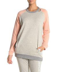 The Laundry Room Lounge Sweatshirt Tunic Dress - Multicolor