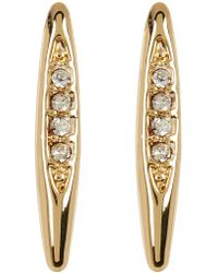 BCBGeneration - Crystal Detail Marquise Earrings - Lyst