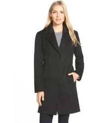 Fleurette - Wool Notch Collar Coat - Lyst