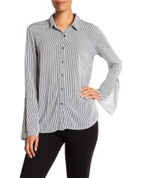 Splendid - Bell Sleeve Stripe Shirt - Lyst