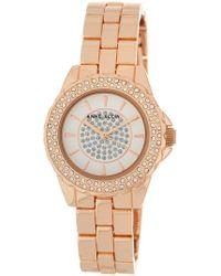 Anne Klein - Women's Embellished Rose Gold Bracelet Watch - Lyst