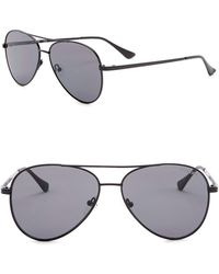 Kenneth Cole Reaction - 57mm Aviator Sunglasses - Lyst