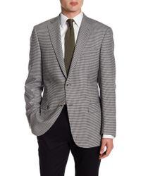 Hart Schaffner Marx - Grey Check Two Button Notch Lapel Wool New York Fit Sport Coat - Lyst