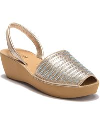 Kenneth Cole Reaction - Fine Strip Wedge Sandal - Lyst
