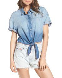Splendid - X Margherita Roma Indigo Shirt - Lyst
