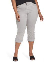 NYDJ - Dayla Colored Wide Cuff Capri Jeans - Lyst