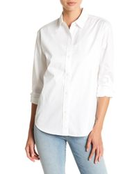 J Brand - Briley Long Sleeve Front Button Solid Blouse - Lyst