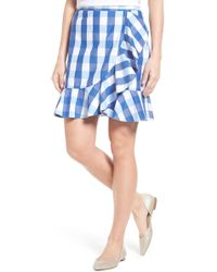 1bb6dd4d79bbd Lyst - Draper James For Eloquii Gingham Skirt in Red