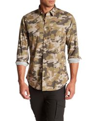 Slate & Stone - Camouflage Print Regular Fit Shirt - Lyst