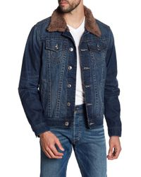 True Religion | Fleece Lined Denim Jacket | Lyst